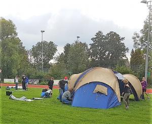 Opbouw van de tenten